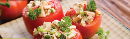 tomatoe and chicken salad